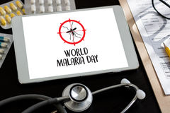 MALARIA mosquito sucking blood World Malaria Day Zika virus aler Royalty Free Stock Photo