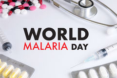 MALARIA mosquito sucking blood World Malaria Day Zika virus aler Royalty Free Stock Photos