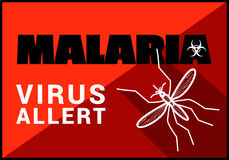 Malaria virus allert vector outline Royalty Free Stock Photos