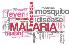 Malaria words Stock Photography