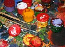 malarz 1 maluje s Zdjęcie Royalty Free