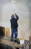 malarz budowlanych obrazy stock