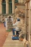 Malarz Pracuje na obrazku Fotografia Stock