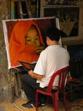 malarz Vietnam obrazy royalty free