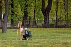 Malarz w parku Zdjęcie Royalty Free
