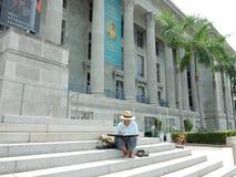 Malarz w Singapur fotografia stock
