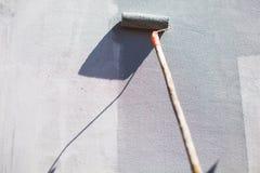 Malarza obrazu ściana Z rolownikiem zdjęcie stock
