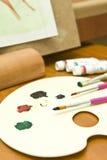 malarza paleta kolorów Zdjęcie Royalty Free