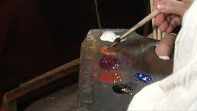 Malarza studio, paleta w zakończeniu zbiory