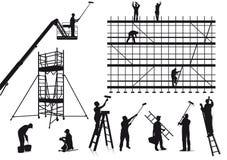 Malarzi i rzemieślnicy przy pracą.  royalty ilustracja