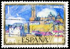 Malarzi: Ignacio Zuloaga, Segovia -, seria, około 1971 obrazy stock