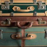 Malas de viagem coloridas do vintage Fotografia de Stock Royalty Free