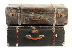 Malas de viagem do vintage isoladas Fotos de Stock
