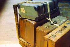 Malas de viagem retros Imagem de Stock