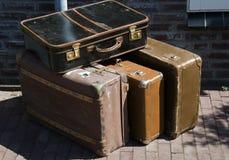 Malas de viagem velhas Fotos de Stock Royalty Free