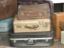 Malas de viagem velhas imagem de stock
