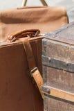 Malas de viagem velhas Imagens de Stock Royalty Free