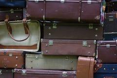 Malas de viagem velhas do saco do vintage Foto de Stock