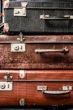 Malas de viagem velhas do vintage Imagem de Stock Royalty Free