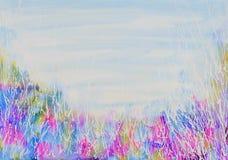 Malas hierbas y fondo salvajes abstractos del cielo ilustración del vector