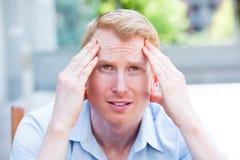 Malas noticias, dolor de cabeza Fotos de archivo libres de regalías