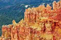 Malas sombras de la piedra arenisca roja en Bryce Canyon National Park en Utah, los E.E.U.U. Foto de archivo libre de regalías
