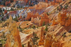 Malas sombras en Bryce Canyon Fotos de archivo libres de regalías