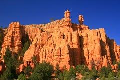 Malas sombras en el barranco rojo Utah, Utah Imagen de archivo libre de regalías