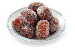 Malasada, hawaiian donuts. Homemade malasada, hawaiian donuts, on a white background