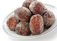 Malasada, hawaiian donuts Royalty Free Stock Photos