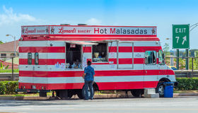 Malasada Wagon. A favorite among locals and tourists in Hawaii. A Portuguese doughnut, you can't eat just one Stock Photos