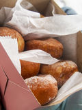 Malasadas. Are a popular Portuguese treat made of fried yeasty dough, similar to a donut Stock Photography