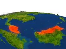 Malasia en rojo de la órbita ilustración del vector