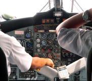 Malasia. Piloto y copiloto Fotografía de archivo libre de regalías