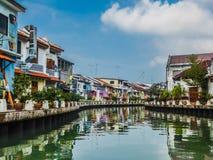 Malasia - río de Melaka fotografía de archivo