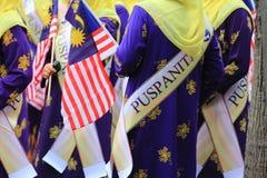 Malasios en la celebración malasia reciente del Día de la Independencia Imagen de archivo libre de regalías