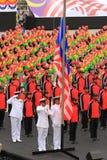 Malasios en la celebración malasia reciente del Día de la Independencia Fotos de archivo