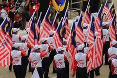 Malasios en la celebración malasia reciente del Día de la Independencia Fotografía de archivo libre de regalías