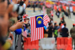 Malasios en la celebración malasia reciente del Día de la Independencia foto de archivo
