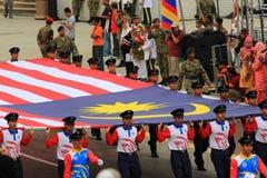 Malasios en la celebración malasia reciente del Día de la Independencia foto de archivo libre de regalías