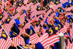 Malasios en la celebración malasia reciente del Día de la Independencia Imagenes de archivo