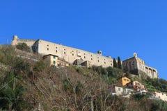 Malaspinakasteel in Massa, Toscanië, Italië Stock Foto