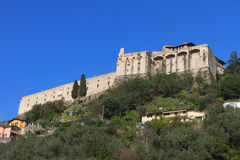 Malaspinakasteel in Massa, Toscanië, Italië Royalty-vrije Stock Foto's