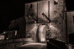 Malatesta castle of Mondaino (Rimini). The Malatesta castle of Mondaino (Rimini Stock Photography