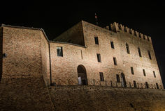 Malatesta castle of Mondaino (Rimini). The Malatesta castle of Mondaino (Rimini Royalty Free Stock Photo