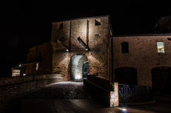 Malatesta castle of Mondaino (Rimini). The Malatesta castle of Mondaino (Rimini Stock Photo