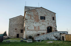 Malatesta fortress of Verucchio (Rimini). Outdoor of Malatesta fortress of Verucchio (Rimini), Italy Royalty Free Stock Photography