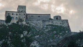 Malatesta fortress in Verucchio (Rimini). A view of Malatesta fortress in Verucchio (Rimini), Italy Royalty Free Stock Images
