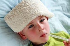 malato del bambino Fotografia Stock Libera da Diritti