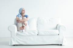 Malato di cancro felice Fotografie Stock